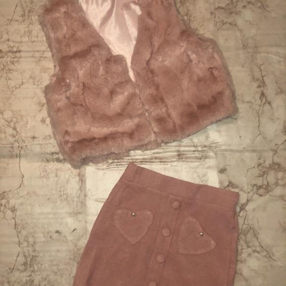 Sweater vest/skirt set